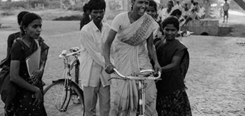 The womens cycling movement in Pudukkottai is a powerful metaphor for freedom. Credit: P. Sainath