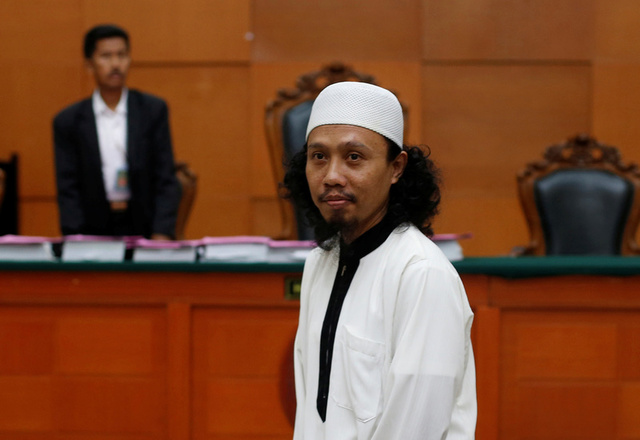 Indonesian Islamic militant, Syaiful Anam, aka Brekele, is seen in a courtroom in Jakarta, Indonesia, July 31, 2017. Credit:Reuters
