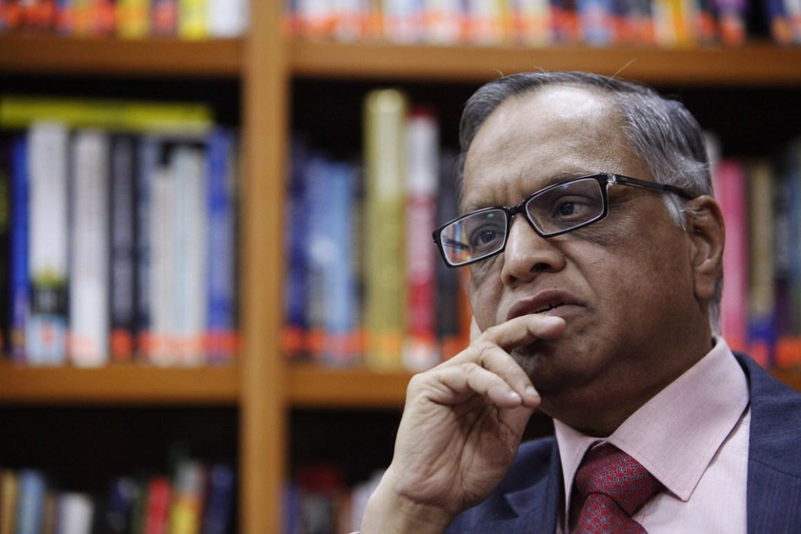 Infosys founder Narayan Murthy. Credit: Reuters