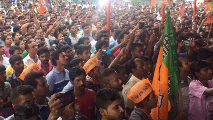 BJP public meeting in Nakasipara. Credit: Twitter