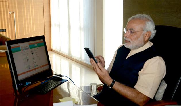narendra modi mobile twitter