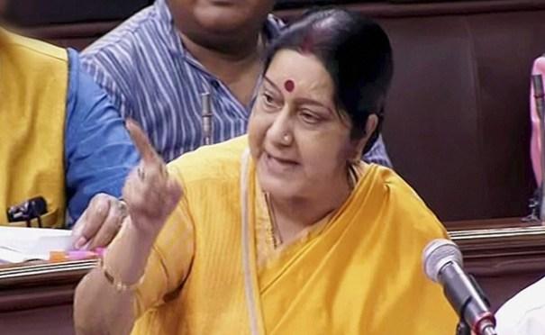 External affairs minister Sushma Swaraj. Credit: PTI