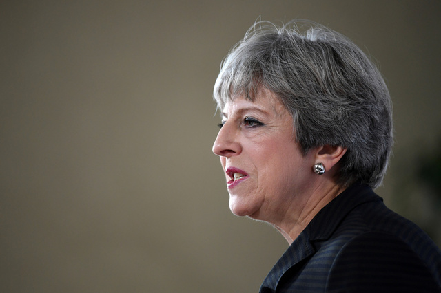 Britain's Prime Minister Theresa May speaks at the Complesso Santa Maria Novella, Florence, Italy September 22, 2017. Credit: Reuters