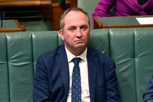 Australian Deputy Prime Minister Barnaby Joyce sits in the House of Representatives at Parliament House in Canberra, Australia, August 14, 2017. Credit: Reuters/AAP/Mick Tsikas