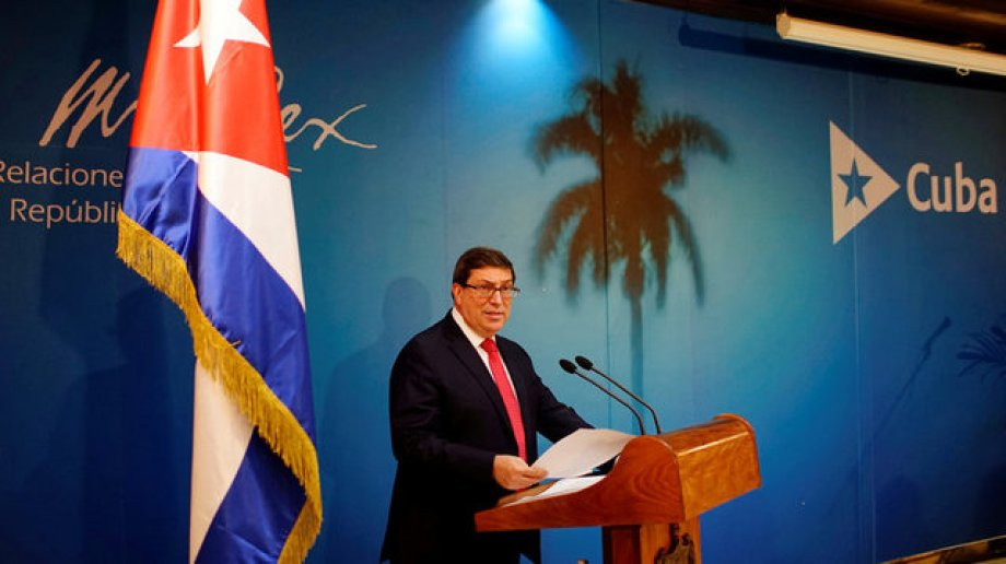 Cuba's Foreign Minister Bruno Rodriguez addresses a news conference in Havana, Cuba, October 3, 2017. Credit: Reuters