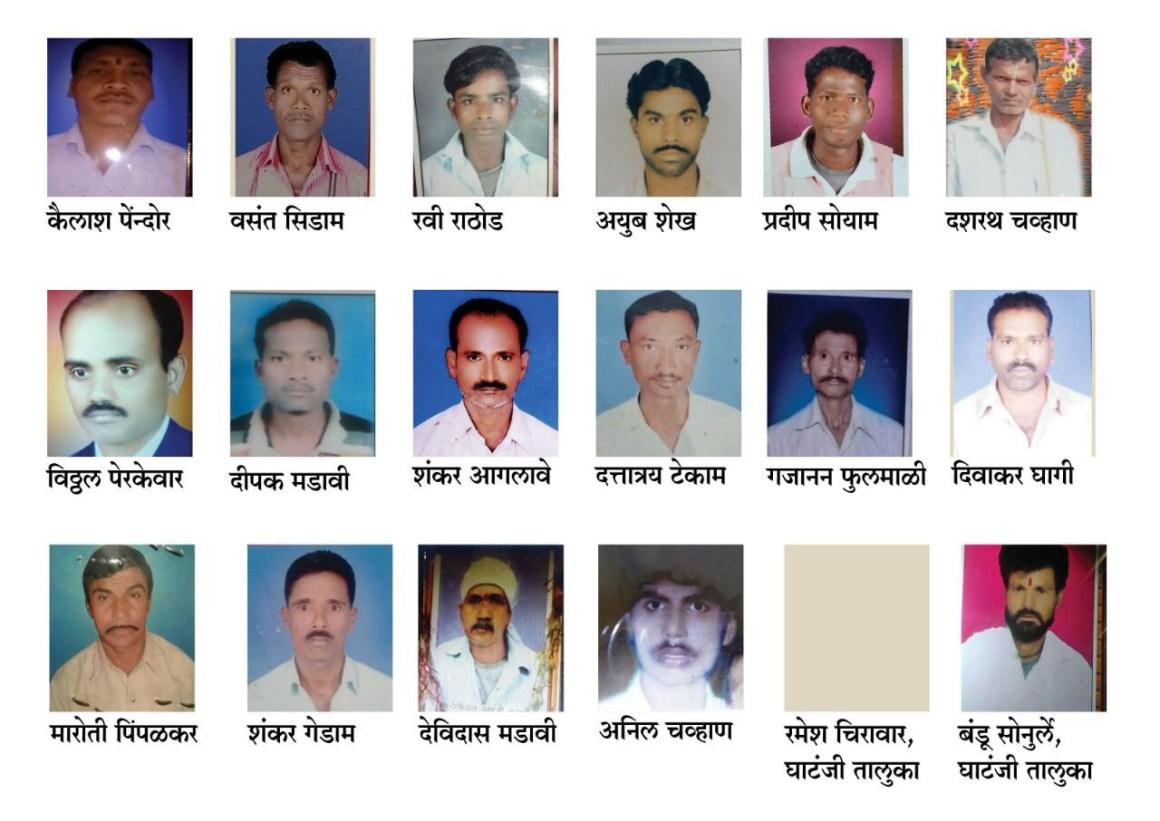 The farmers who died in Yavatmal. Courtesy: Varsha Torgalkar