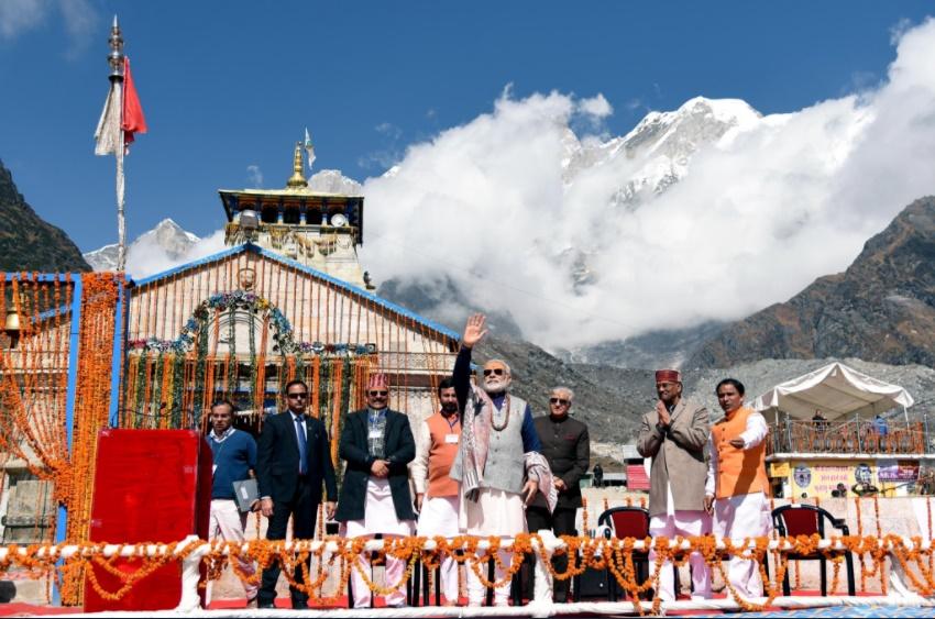 PM Modi in Kedarnath. Twitter/PMO