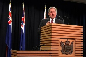 Winston Peters, leader of the New Zealand First Party, speaks during a media conference in Wellington, New Zealand, September 27, 2017. Credit: Reuters