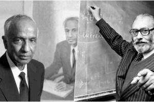 Subrahmanyan Chandrasekhar (left) and Abdus Salam. Source: YouTube