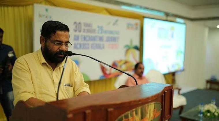 Kerala Tourism Minister Kadakampally Surendran. Credit: Twitter/KeralaTourism