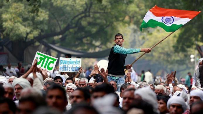 New Delhi's iconic Jantar Mantar protest venue. Credit: Reuters