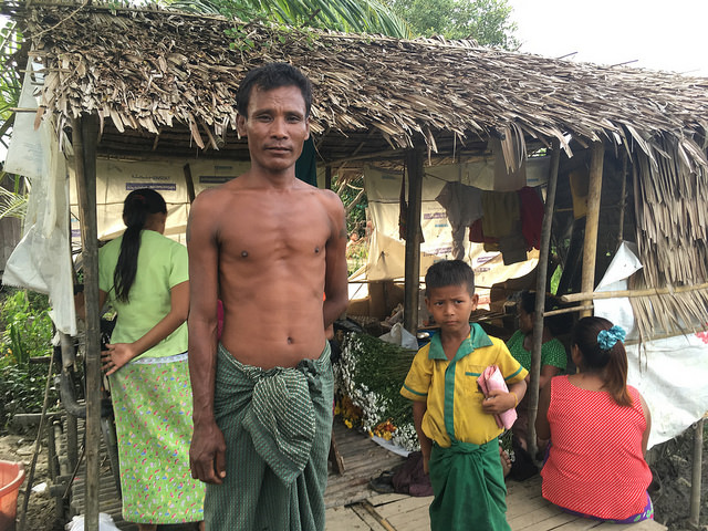A former soldier in the Burmese village of Dalla who says he doesn't like Muslims because of what is happening in Rakhine State. Credit: Pascal Laureyn/IPS