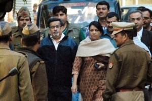 Rajesh Talwar and Nupur Talwar. Credit: PTI