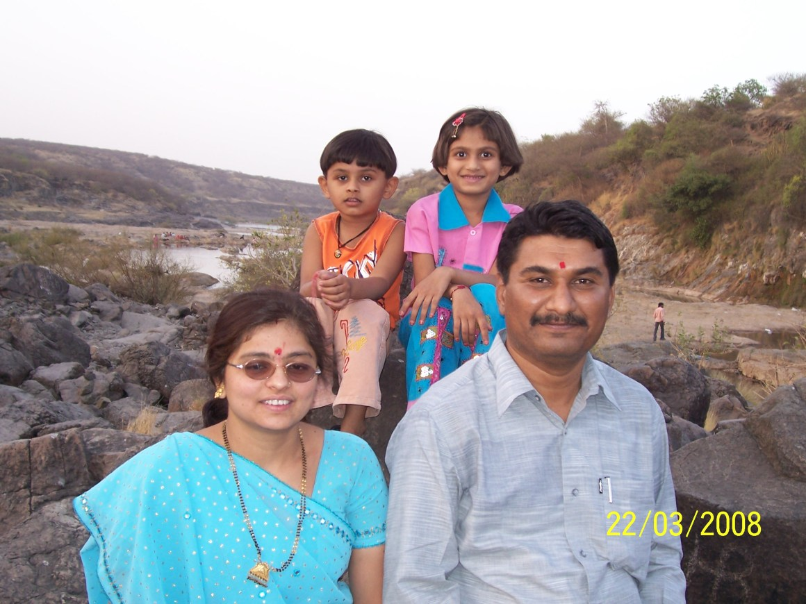 File photo of Amit Jethwa with his wife and children. Courtesy: Damayantee Dhar