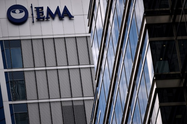 FILE PHOTO: The headquarters of the European Medicines Agency (EMA) is seen in London, Britain April 25, 2017. Credit: Reuters/Hannah McKay/File Photo