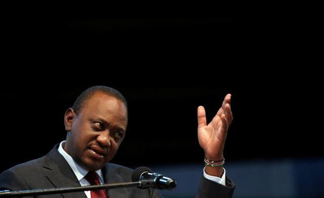 Incumbent President Uhuru Kenyatta speaks after he was announced winner of the repeat presidential election at the IEBC National Tallying centre at the Bomas of Kenya, in Nairobi, Kenya October 30, 2017. Credit: Reuters/Thomas Mukoya/Files