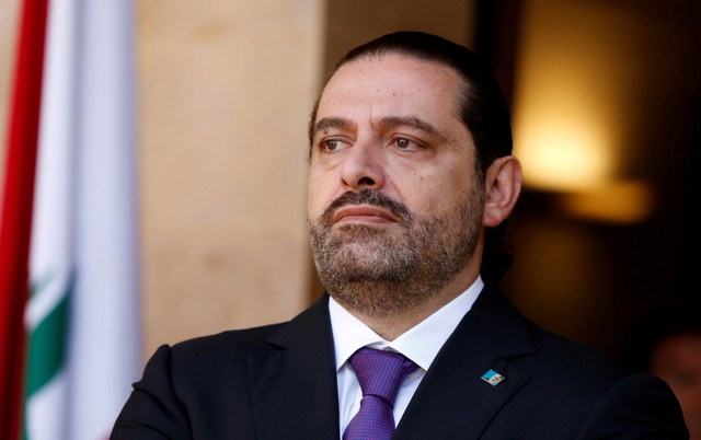 Lebanon's Prime Minister Saad al-Hariri is seen at the governmental palace in Beirut, Lebanon October 24, 2017. Picture taken October 24, 2017. Credit: Reuters/Mohamed Azakir