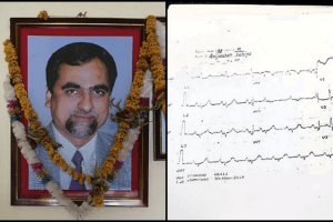 Judge Loya and the ECG report dated November 30. Courtesy: Caravan/Indian Express