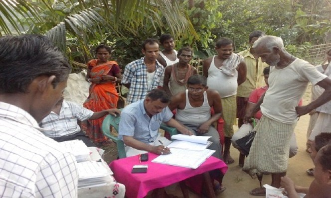 Verification of NRC application forms in Lala Circle, Hailakandi, Assam on April 2, 2016. Courtesy: NRC website