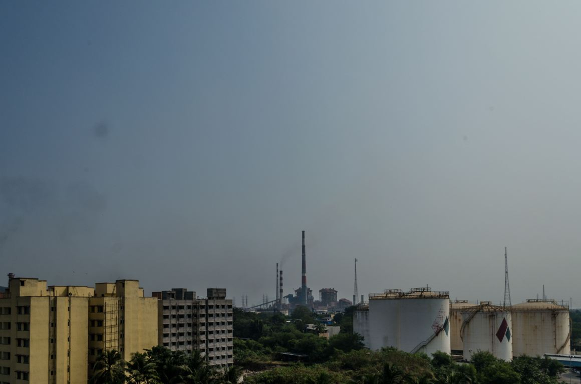 The MMRDA building complex with a storage unit of Sealord Enterprises near it. Credit: Sayan Bhattacharjee