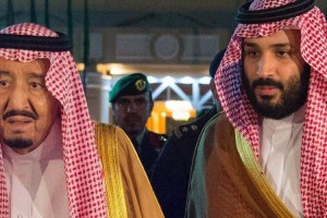 Saudi Arabia's King Salman and his son, Crown Prince Mohammed bin Salman. Credit: Reuters