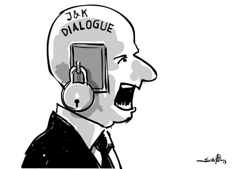 Suhail Naqshbandi's cartoon in Greater Kashmir.
