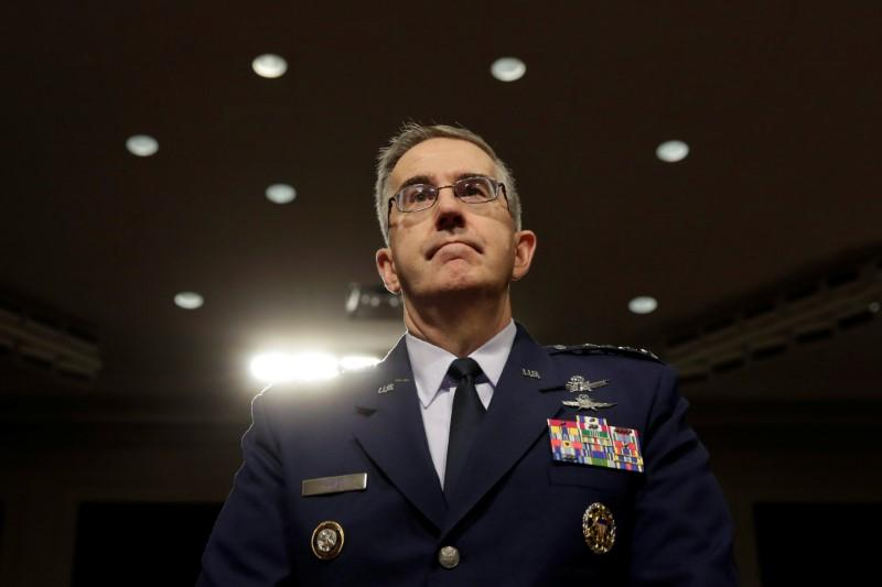 US Air Force General John Hyten. Credit: Reuters/Yuri Gripas/Files
