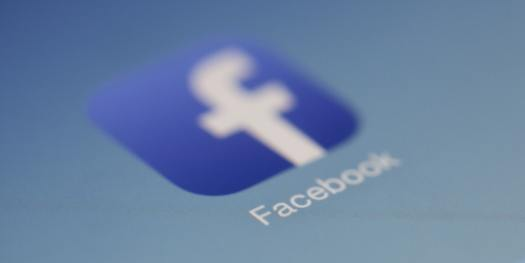 Faded Facebook Icon