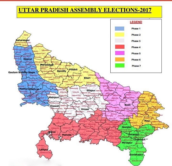 phase wise up election bu ECI