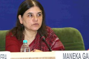 The Union Minister for Women and Child Development, Smt. Maneka Sanjay Gandhi addressing the 63rd meeting of the Central Advisory Board Of Education (CABE), in New Delhi on August 19, 2015.