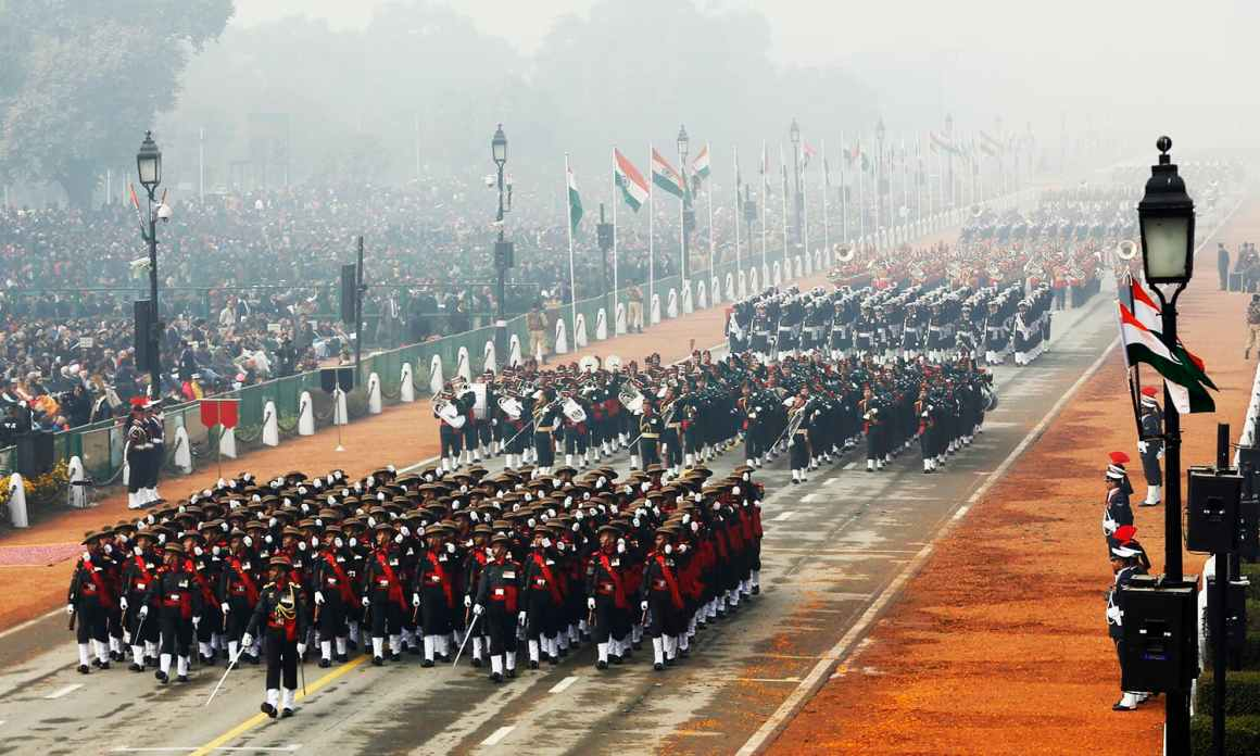 Indian soldiers march during the Republic Day parade in New Delhi, India January 26, 2016. REUTERS/Adnan Abidi