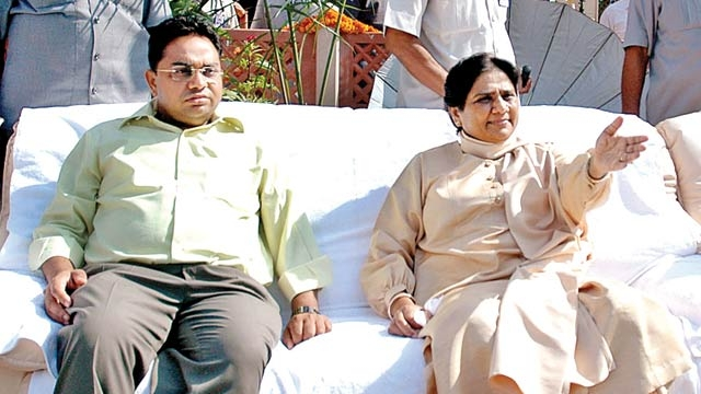 Mayawati and her brother Anand Kumar