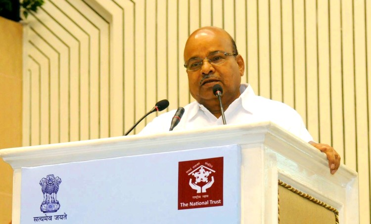 "The Union Minister for Social Justice and Empowerment, Shri Thaawar Chand Gehlot addressing at the inauguration of a ""National Conference on Autism"", organised by National Trust, on the occasion of the World Autism Awareness Month, in New Delhi on April 03, 2017."