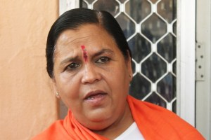 Nagpur: Union Water Minister Uma Bharti addresses a press conference in Nagpur on April 18, 2016. (Photo: IANS)