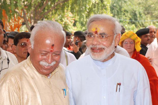 Mohan Bhagwat and Narendra Modi 1 PTI