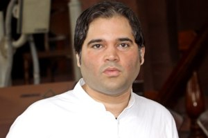 Varun Gandhi at parliament House on Wednesday. Express Photo by Praveen Jain. 06.08.2014.
