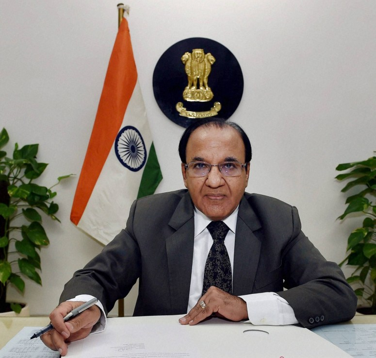 New Delhi: Achal Kumar Jyoti assumes charge as the Election Commissioner in New Delhi on Wednesday. PTI Photo by Shirish Shete (PTI5_13_2015_000039B)