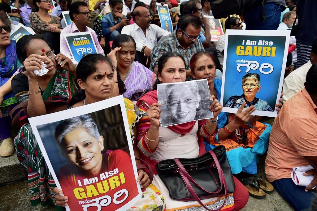 Gauri Lankesh Protest PTI