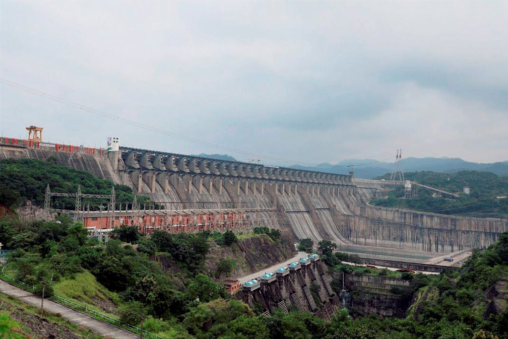 Narmada: A view of the Sardar Sarovar Dam that was dedicated to the nation by Prime Minister Narendra Mod at Kevadiya in Narmada district on Sunday. PTI Photo / PMO Twitter(PTI9 17 2017 000099B)
