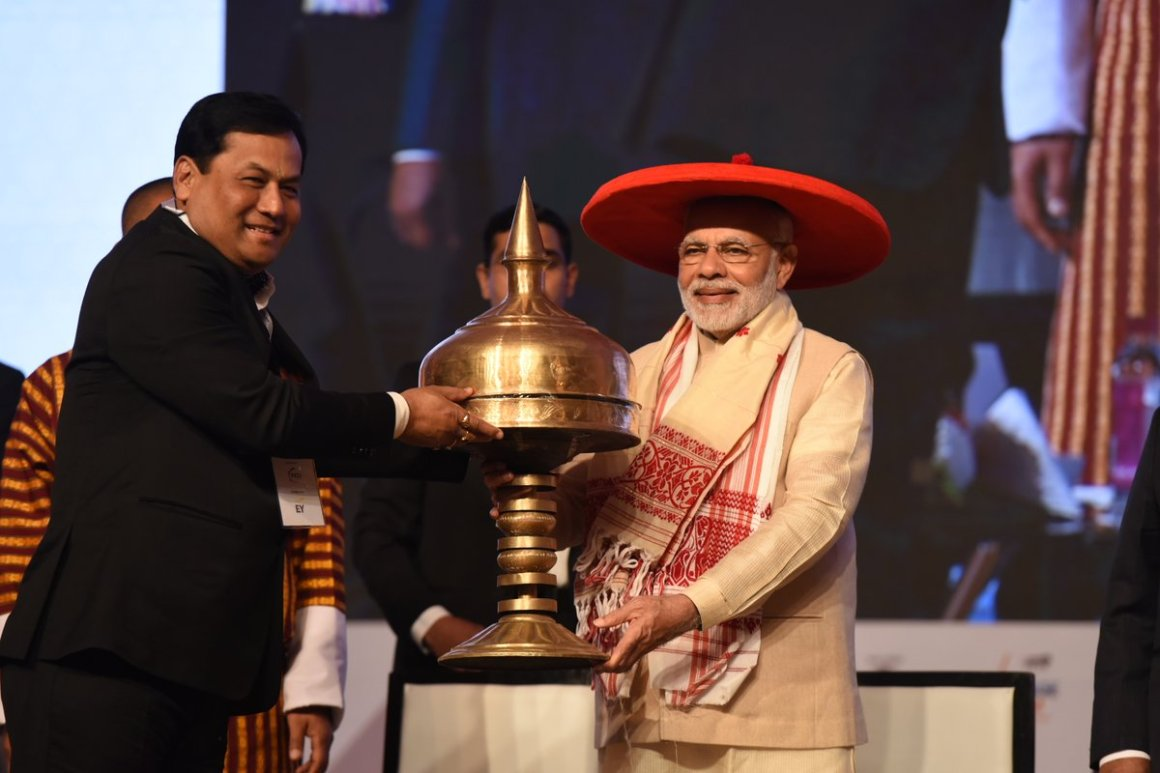 MODI Sonowal Assam Global Investors Summit