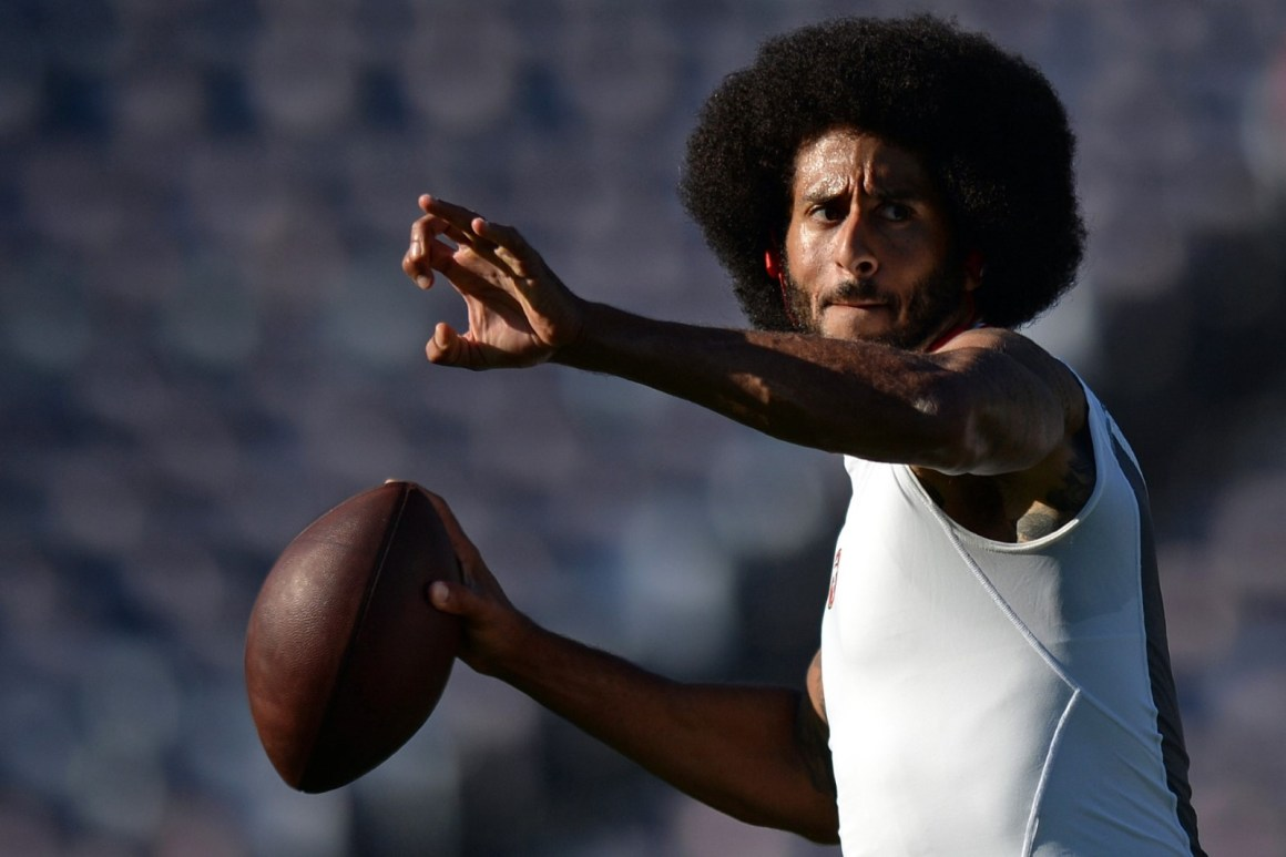 Colin Kaepernick, whose protest against injustice and police brutality. Reuters