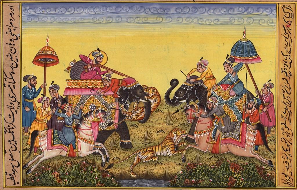 मुगल काल में चीते के शिकार पर आधारित पेंटिंग. (फोटो साभार: पिनारेस्ट)