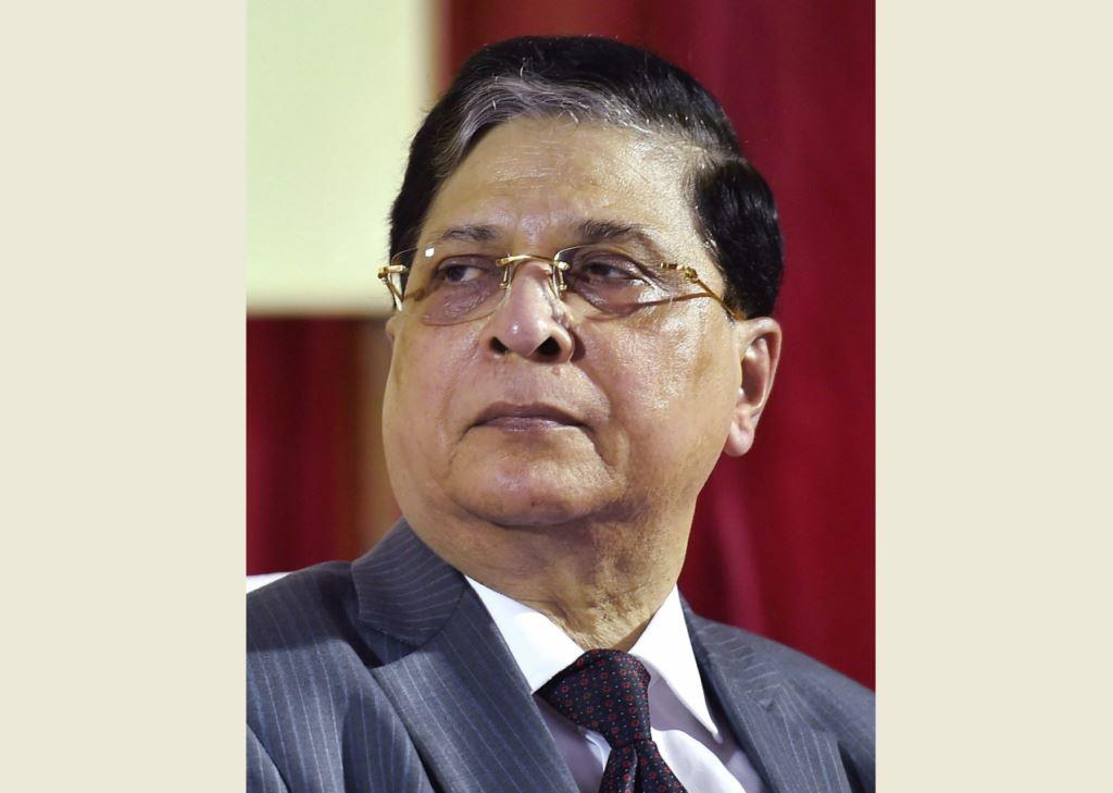 **FILE** New Delhi: In this Aug 25, 2017 file photo, Chief Justice of India, Justice Dipak Misra attends a ceremony in New Delhi. Opposition parties including the Congress, NCP, Left parties, Samajwadi Party (SP), Bahujan Samaj Party (BSP) and some others will meet in Parliament to give final shape to the proposed impeachment motion against Chief Justice of India Dipak Misra and are likely to submit it to Vice President M Venkaiah Naidu. PTI Photo(PTI4_20_2018_000046B)