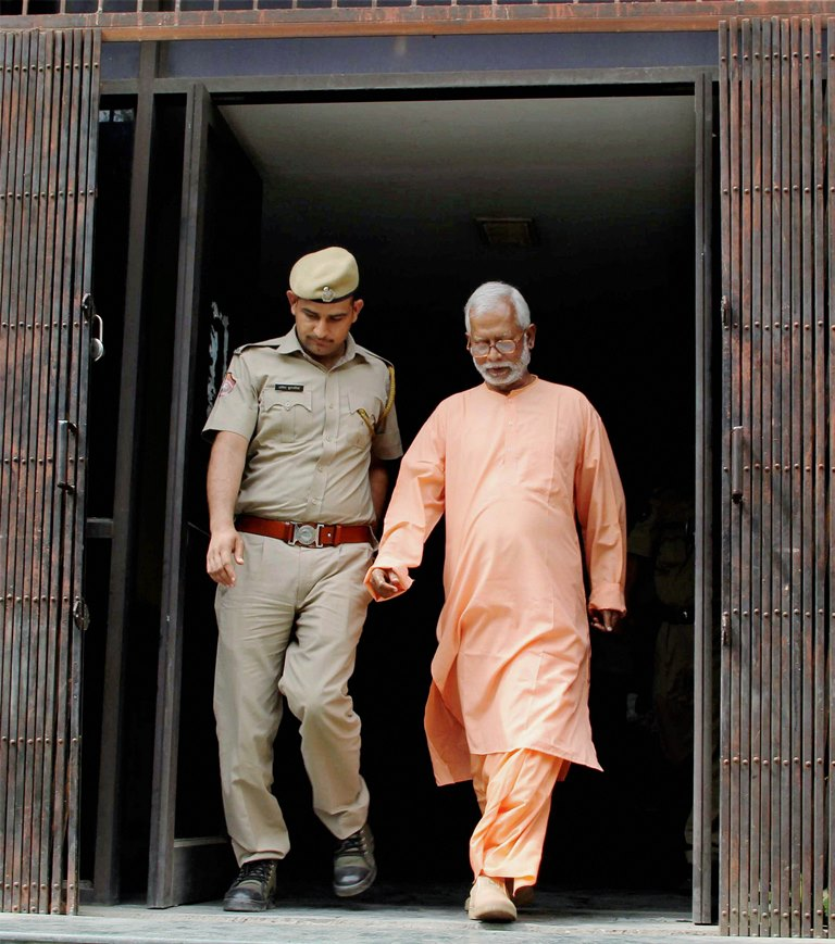 New Delhi: **FILE** File photo of Mecca Masjid blast accused Swami Aseemanand who was acquitted by a special NIA court in Hyderabad on Monday. PTI Photo (PTI4_16_2018_000050B)