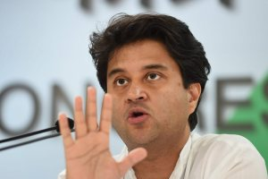 New Delhi: Senior Congress leader Jyotiraditya Scindia addresses a press conference, in New Delhi, on Sunday, June 03, 2018. (PTI Photo/Atul Yadav) (PTI6_3_2018_000066B)