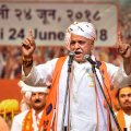 New Delhi: Former Vishwa Hindu Parishad leader Pravin Togadia speaks at the launch of his new outfit International Hindu Council, in New Delhi on Sunday, June 24, 2018. (PTI Photo/Arun Sharma) (PTI6_24_2018_000097B)