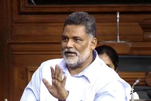 New Delhi: RJD MP Pappu Yadav aka Rajesh Ranjan speaks in the Lok Sabha during the Monsoon session of Parliament, in New Delhi on Thursday, July 19, 2018. (LSTV Grab via PTI) (PTI7_19_2018_000033B)