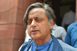 New Delhi: Congress MP Shashi Tharoor arrives to attend the Monsoon session of the Parliament, in New Delhi on Tuesday, July 24, 2018. (PTI Photo/Kamal Kishore) (PTI7_24_2018_000069B)