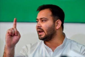 New Delhi: Rashtriya Janata Dal (RJD) leader Tejashwi Yadav during a press conference at the party office in New Delhi on Saturday, Aug 11, 2018. (PTI Photo/Ravi Choudhary)(PTI8_11_2018_000084B)