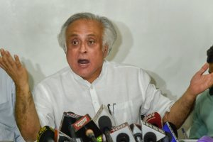 New Delhi: Congress leader Jairam Ramesh addresses a press conference, in New Delhi on Monday, Sept 3, 2018. (PTI Photo/Kamal Singh) (PTI9_3_2018_000101B)